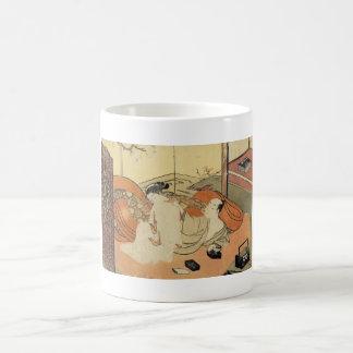 Classic vintage japanese ukiyo-e oiran art coffee mug