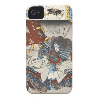 Classic vintage japanese ukiyo-e samurai Utagawa Case-Mate iPhone 4 Case