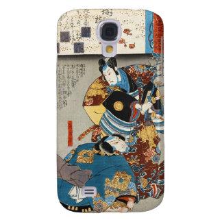 Classic vintage japanese ukiyo-e two samurais art samsung galaxy s4 covers