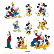 Classic Vintage Mickey and Friends Sticker
