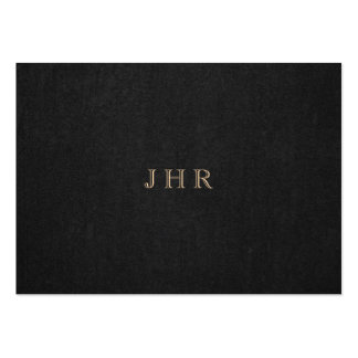 Classic Vintage Monogram Dark Brown Professional Large Business Card