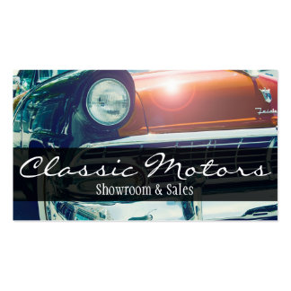 Classic Vintage Motor Cars Auto Sale Dealers Business Card