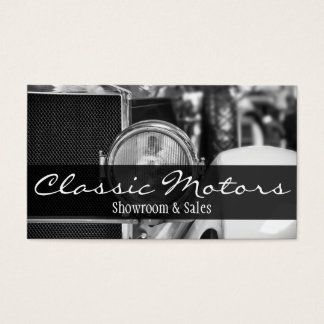 Classic Vintage Motor Cars Auto Sale Dealers Business Card