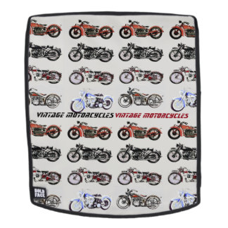 CLASSIC VINTAGE MOTORCYCLES Red Black Grey Backpack