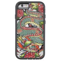 Classic vintage oriental japanese Dragon Tattoo Tough Xtreme iPhone 6 Case