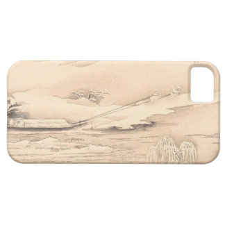 Classic vintage oriental  waterscape scenery boat iPhone SE/5/5s case