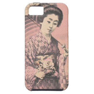 Classic vintage portrait of geisha japanese lady case for iPhone SE/5/5s