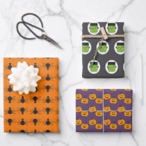 Classic Vintage Print Fun Cute Custom Halloween Wrapping Paper Sheets