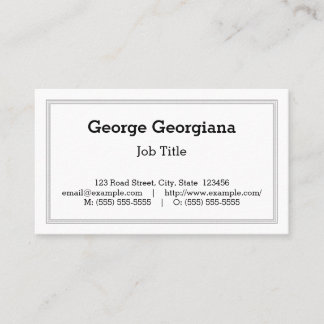 Classic & Vintage Professional Business Card