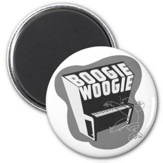 Classic Vintage Retro Boogie Woogie Jazz 2 Inch Round Magnet