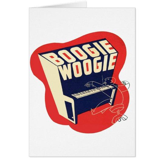 Classic Vintage Retro Boogie Woogie Jazz Card