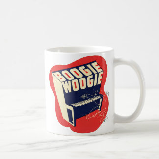 Classic Vintage Retro Boogie Woogie Jazz Classic White Coffee Mug