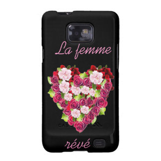 Classic Vintage Rose Heart Samsung Galaxy S2 Case