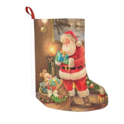 Classic vintage Santa Claus Small Christmas Stocking