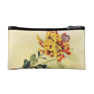 Classic vintage ukiyo-e chrysanthemum butterfly cosmetic bags