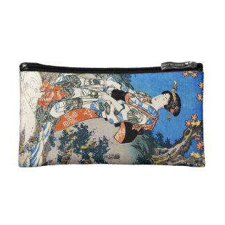 Classic vintage ukiyo-e geisha lady woman Utagawa Makeup Bag