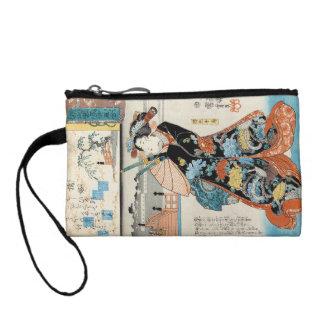 Classic vintage ukiyo-e japanese geisha Utagawa Coin Wallets