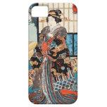 Classic vintage ukiyo-e japanese geisha Utagawa iPhone 5 Covers
