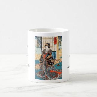 Classic vintage ukiyo-e japanese geisha Utagawa Coffee Mug