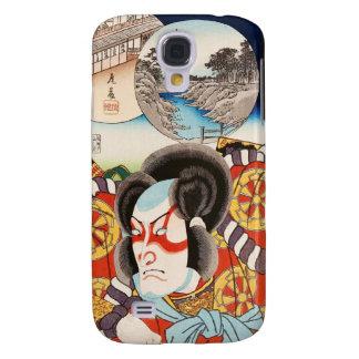 Classic vintage ukiyo-e kabuki samurai Utagawa art Samsung Galaxy S4 Case