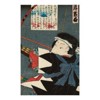 Classic Vintage Ukiyo-e Kyudo Archer Utagawa Art Stationery