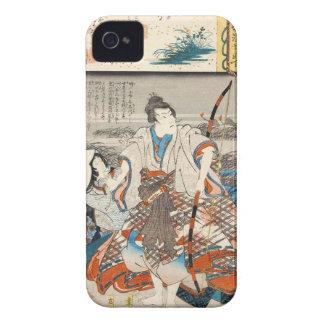 Classic vintage ukiyo-e samurai and lady Utagawa iPhone 4 Case-Mate Case