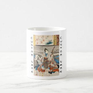 Classic vintage ukiyo-e samurai and lady Utagawa Coffee Mug