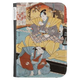 Classic vintage ukiyo-e samurais utagawa art cases for the kindle