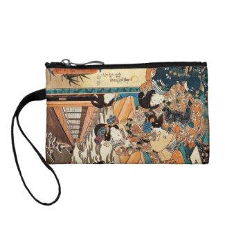 Classic vintage ukiyo-e three geishas Utagawa art Change Purses