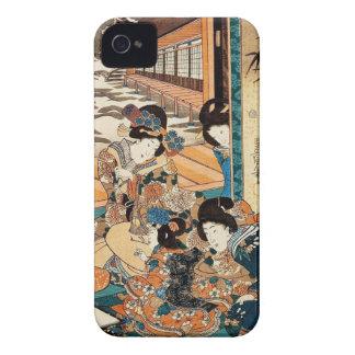 Classic vintage ukiyo-e three geishas Utagawa art iPhone 4 Cover