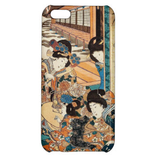 Classic vintage ukiyo-e three geishas Utagawa art iPhone 5C Case