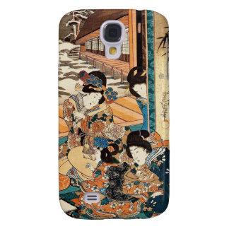 Classic vintage ukiyo-e three geishas Utagawa art Samsung Galaxy S4 Case