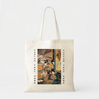 Classic vintage ukiyo-e three geishas Utagawa art Tote Bag