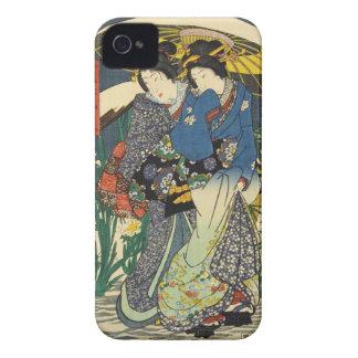 Classic vintage ukiyo-e two geishas with umbrella Case-Mate iPhone 4 case