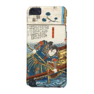 Classic vintage ukiyo-e Utagawa samurai on boat iPod Touch 5G Case