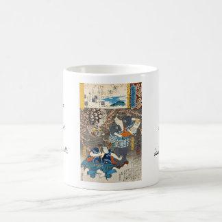 Classic vintage ukiyo-e Utagawa samurais art Coffee Mug