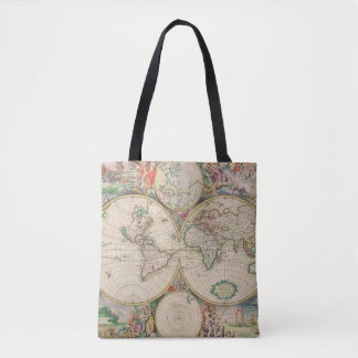 Classic Vintage World Travel Map Tote Bag