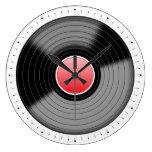 Classic Vinyl Record Turntable LP Wall Clock
