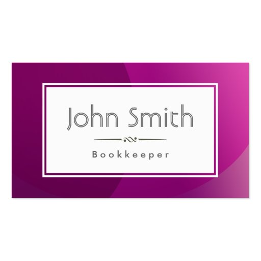 Bookkeeper business cards page2 bizcardstudio classic violet background bookkeeper business card colourmoves