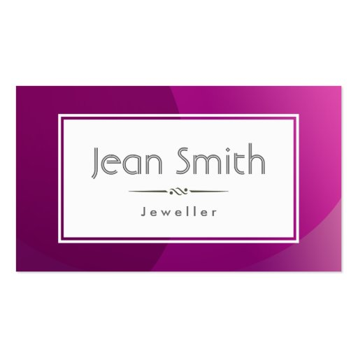 Classic Violet Background Jewellery Business Card : Zazzle