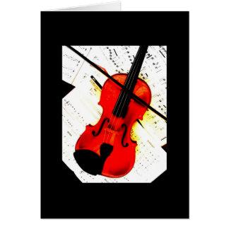 Classic Violin Greeting Card