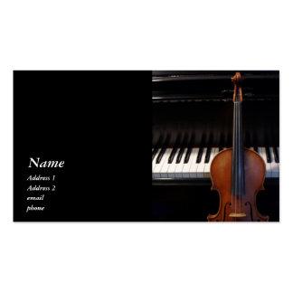 Classic Violin Viola and Piano Business Card