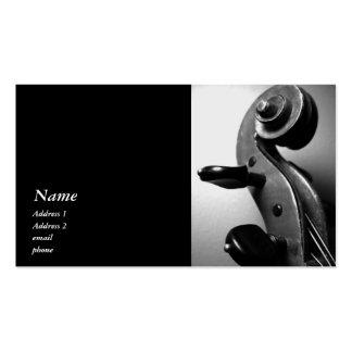 Classic Violin Viola Scroll Business Card