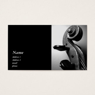 Classic Violin / Viola Scroll Business Card