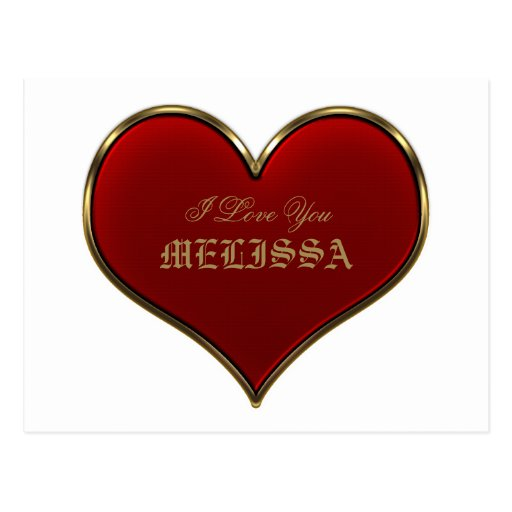 Classic Vivid Red Heart with Gold Metallic Border Post Cards