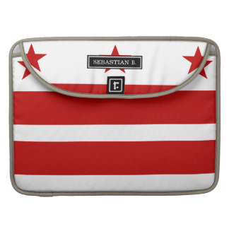 Classic Washington D.C. Flag Sleeve For MacBook Pro