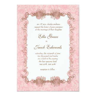 Classic Wedding Invite // Pink Elegance