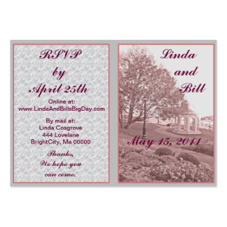 Classic Wedding Memories RSVP Cards Business Cards
