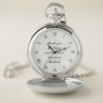 Classic Wedding Thank You Bridesman Pocket Watch