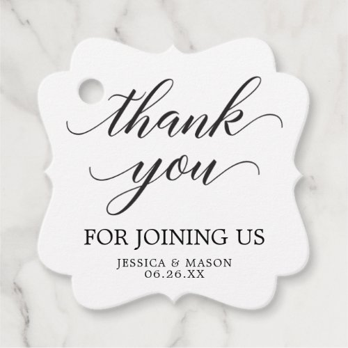 Classic Wedding Thank You Favor Tag